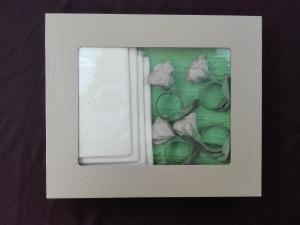 Set ručně tkaního prostírání: 30 × 40cm - 4ks prstenů na ubrousky