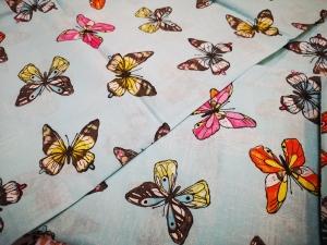 """Obliečka bavlnená """"Motýliky"""" rozmerov: 70cm×90cm (2ks) + 140cm×200cm (2ks)"""