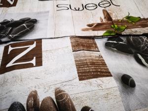 "Obliečka bavlnená ""Sweet Zen"" rozmerov: 70cm×90cm (2ks) + 140cm×200cm (2ks)"