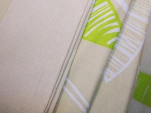 """Obliečka bavlnená """"Zelené listy"""" set rozmerov: 70cm×90cm (2ks) + 140cm×200cm (2ks)"""