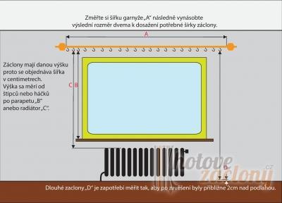 Záclona metrážová žakarová vitrážka 1 ( bez otvorů )