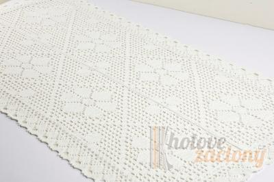 Dekorační bílý krémový ubrus 40 x 80cm
