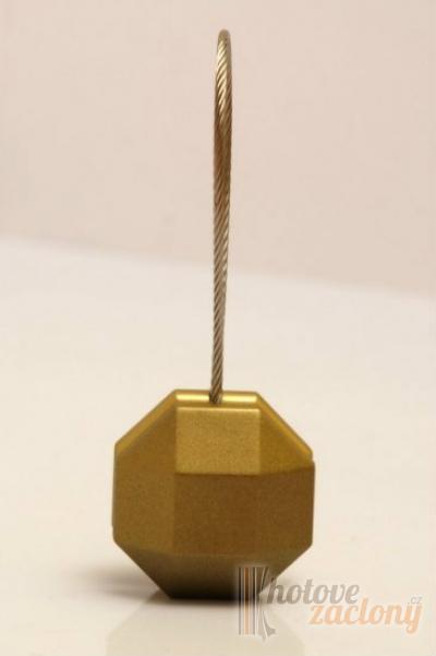 Magnetka ocelová na závěs nebo záclonu ve tvaru: pětiuhelník, odstínu: staré zlato és mérete: 35cm