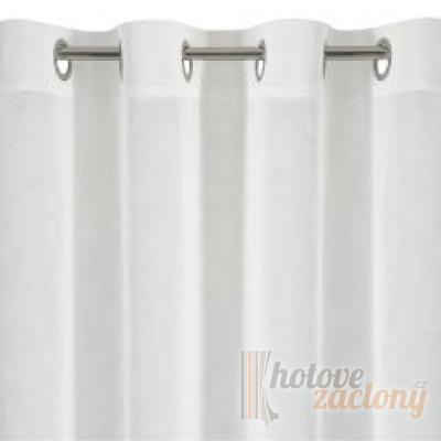 Záclona bíla se vzorem metrážová voál 5227