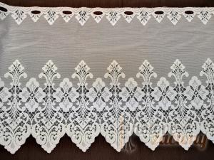 Záclona bílá metrážová žakarová vitrážka krátka