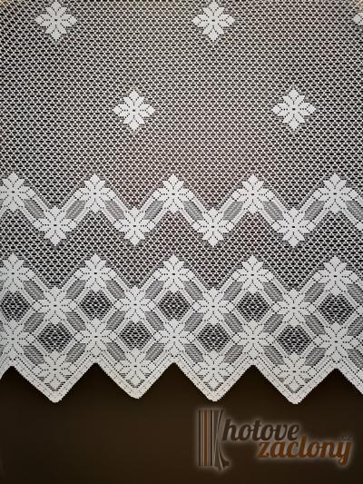 Záclona metrážová žakarová bíla 24
