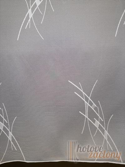 Záclona metrážová žakarová bíla 27 vyrobené v nemecku
