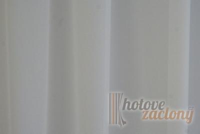"""Záclona metrážová svetlohnedý voál se zátežovým olůvkem """"Canberra 20"""" nejtmavší sivá"""