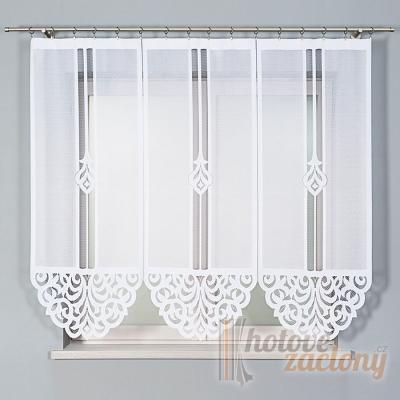 Hotová bíla žakarová záclona panelová Zuriel výška: 160cm šírka: 180cm