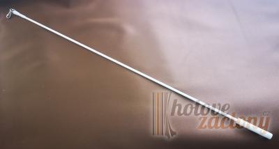 Bíla tyč na potahovaní záclon nebo závesů délky: 125cm