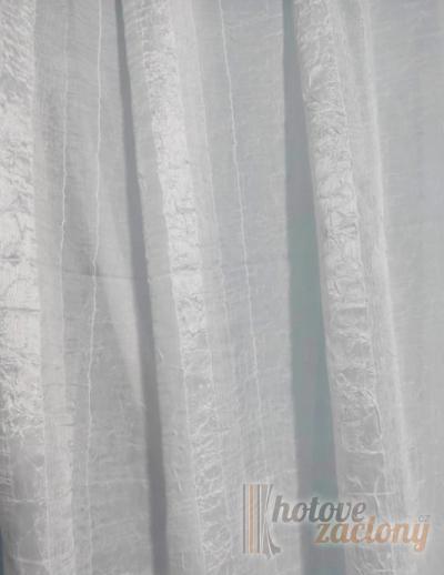 Záclona bíla metrážová kreš