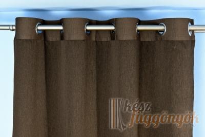 Sötét, barnaszínű szalag ezüst karikával szélessége: 6cm