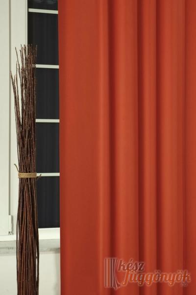 """Black-out sötétítő függöny, méterárú, """"Uni prima"""" 23 terrakotta"""