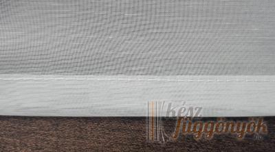 Gyűrt fényáteresztő fehér függöny méterárú