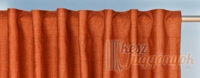 Hímzett krém színű, fényáteresztő függöny, méterárú,P2/268