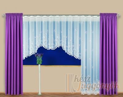 """Jacquard, fényáteresztő készfüggöny """"Rachel"""" ajtó vagy ablak"""
