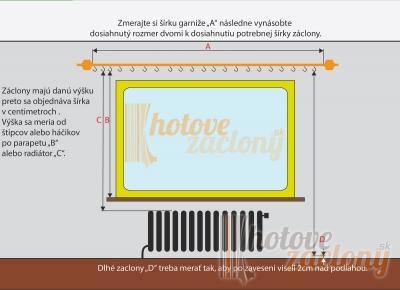"""Záclona metrážová Organza """"Krémová Liliana 02"""""""
