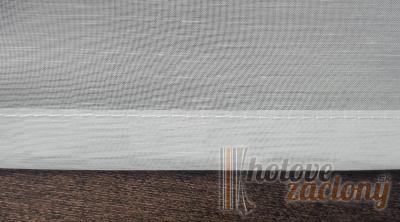 Záclona biela so zeleným vzorom metrážová voál 12145 03 L