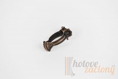 Kovový vitrážkový štipec farba antická hnedá