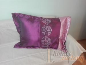 Dekoratívny návlek Tmavo fialová rozmerov: 50cm × 70cm