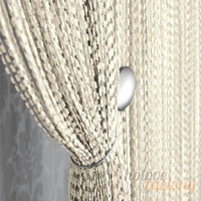 Šnúrková biela záclona, rozmeru 160 × 290cm ( posledný kus )