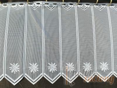 Záclona metrážová biela žakarová vitrážka s jemným motívom