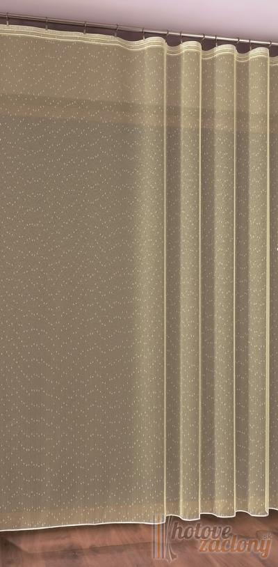 Hotová krémová záclona