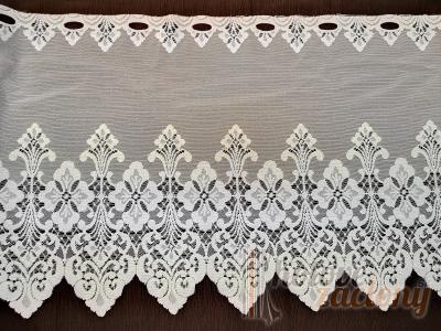 Záclona metrážová biela žakarová vitrážka