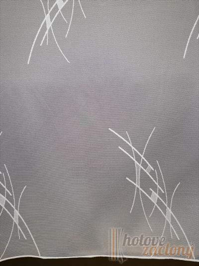 Záclona metrážová biela žakarová 27 vyrobená v nemecku
