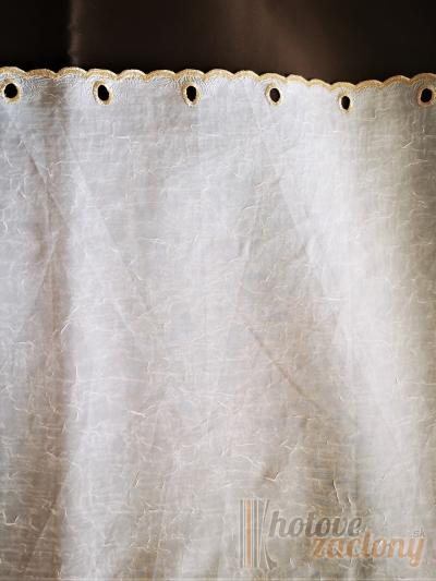 """Záclona biela voálová metrážová """"Výšivaná 54"""""""