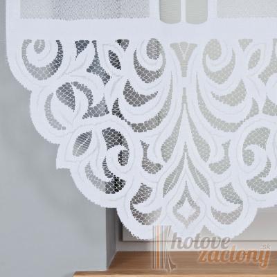 Hotová biela žakarová záclona panelová Zuriel výška: 160cm šírka: 180cm