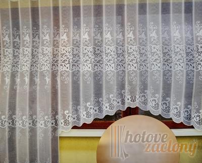 Hotová záclona žakár na okno rozmerov: 160cm x 400cm Anita