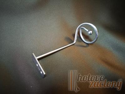 Držiak uväzovania záclon kovový galvanizovaný odtieňu: