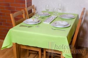 Teflonový obrus rozmerov: 75x75 cm zelená - pistáciová