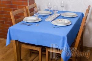 Teflonový obrus rozmerov: 140 x 140cm modrý