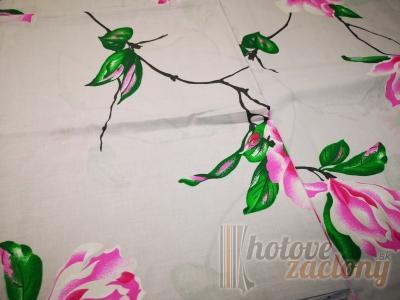 """Obliečka bavlnená """"kvietky"""" rozmerov: 70cm×90cm (2ks) + 140cm×200cm (2ks)"""