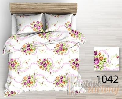 """Obliečka krepová """"Kvety"""" rozmerov: 70cm×90cm (2ks) + 140cm×200cm (2ks)"""